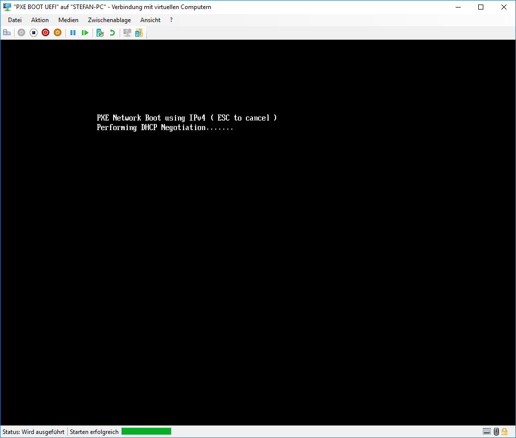 Hyper-V PXE UEFI BOOT DHCP Server Anfrage