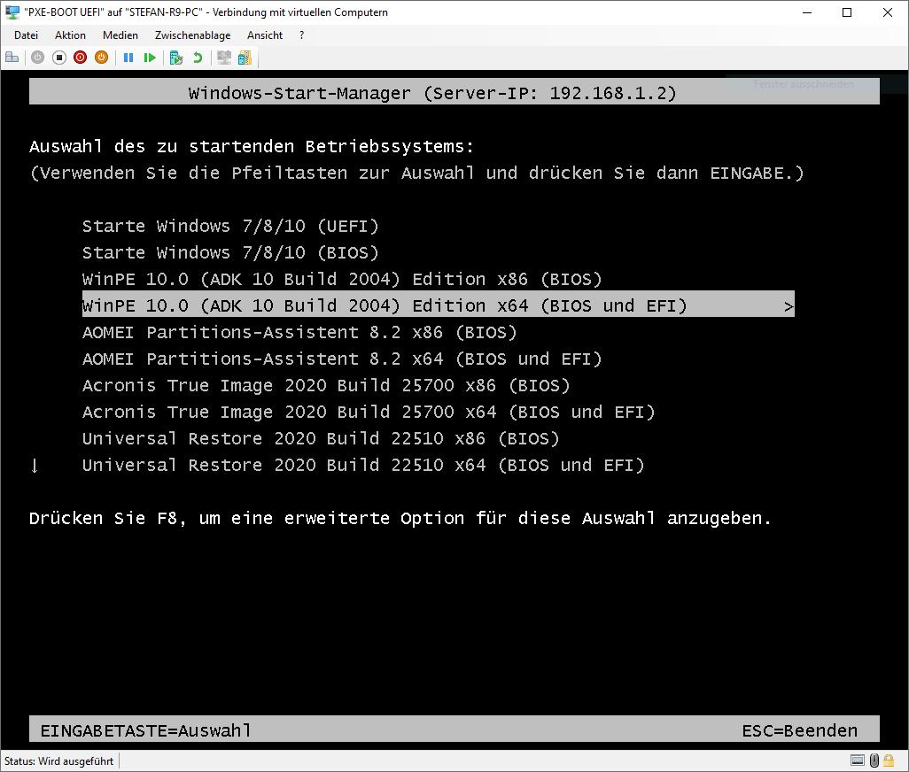 Hyper-V Windows-Start-Manager