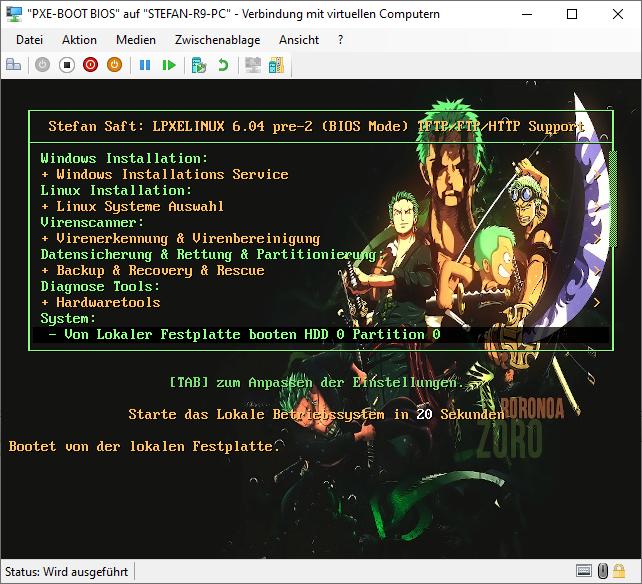 PXElinux Grafisches Menü