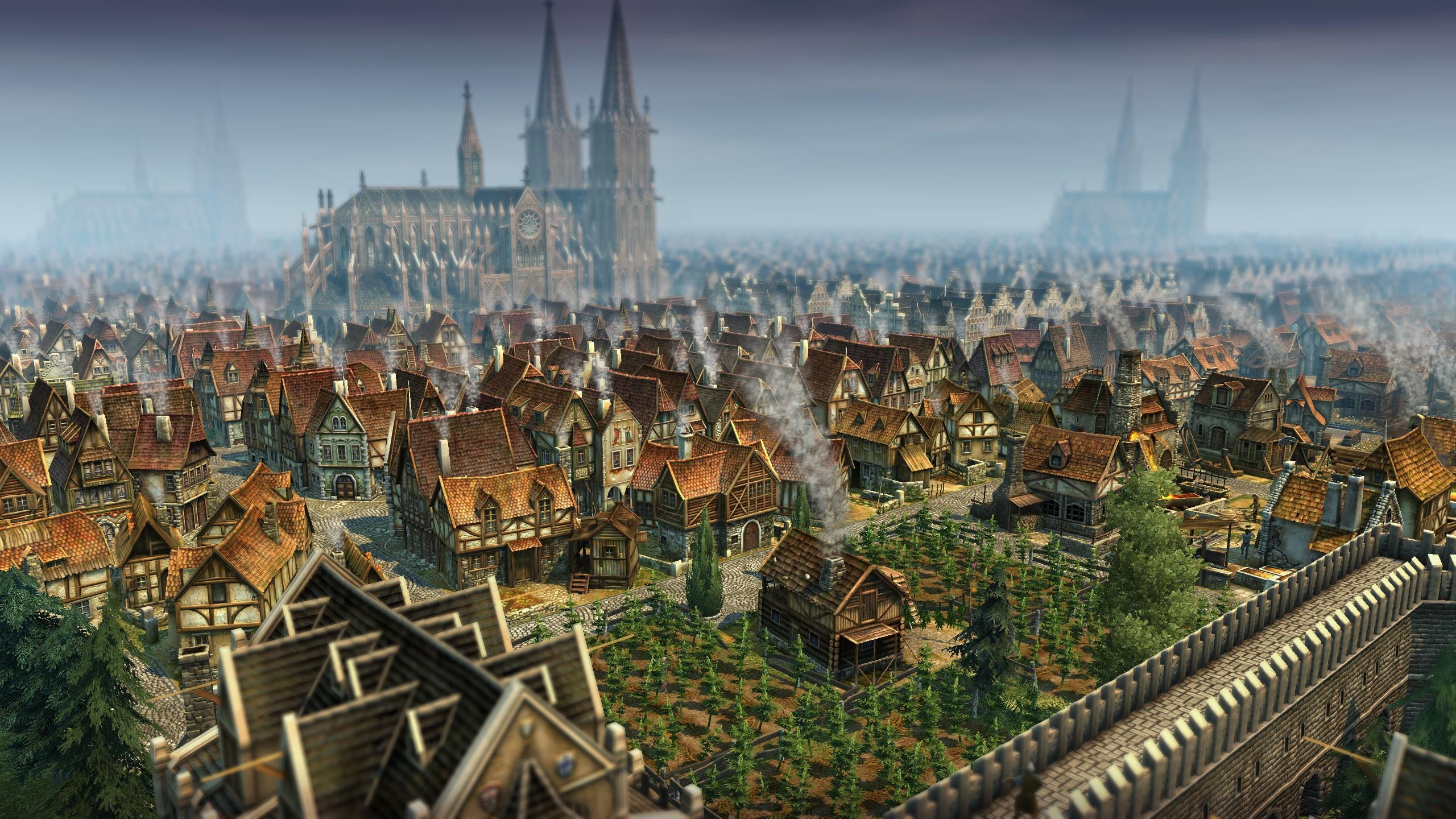 Anno 1404 Stadt - Ergebnis der experimentellen Grafikeinstellungen