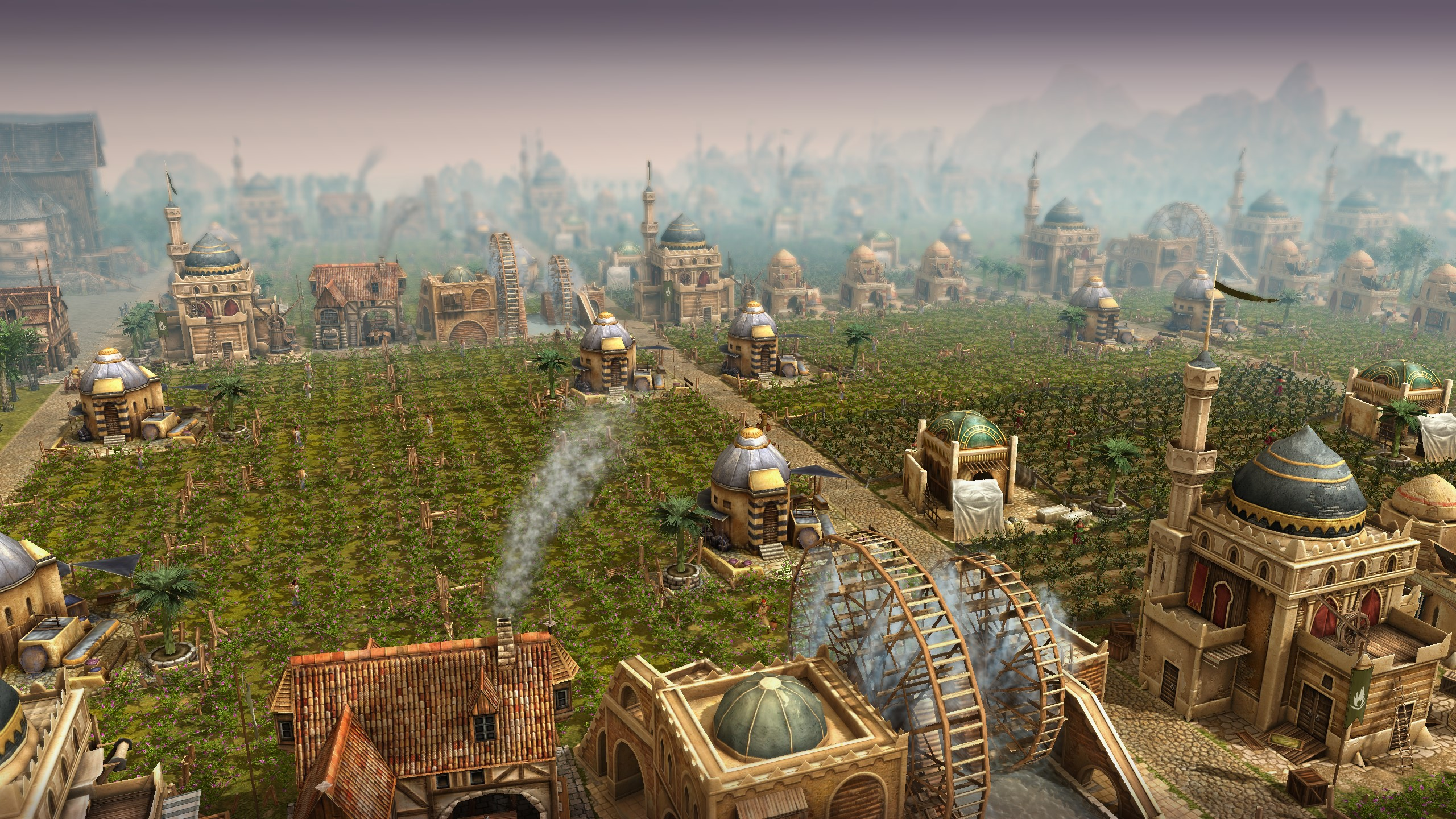 Anno 1404 Farm - Ergebnis der experimentellen Grafikeinstellungen