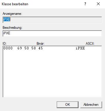 Windows DHCP Benutzerklassen