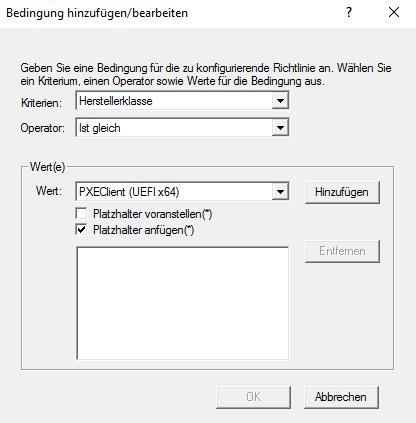 Windows DHCP Richtlinie iPXE Firmware UEFIx64