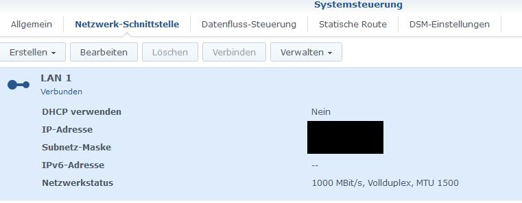 Synology-NAS LAN IP