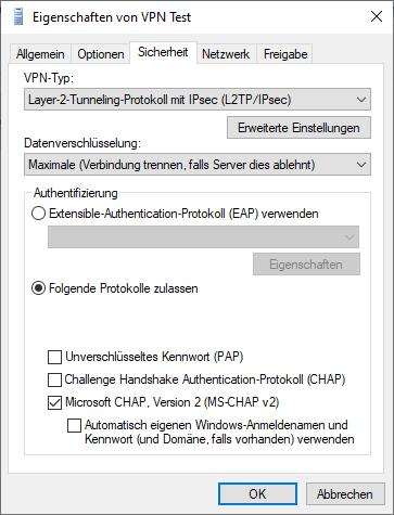 VPN Adapter Sicherheit