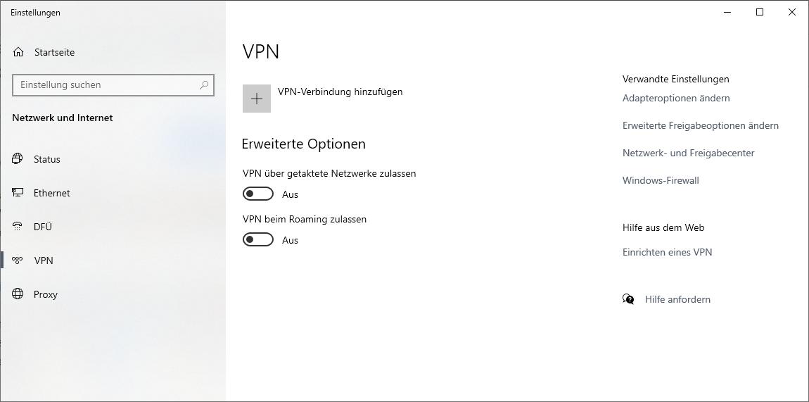 Windows 10 VPN einrichten